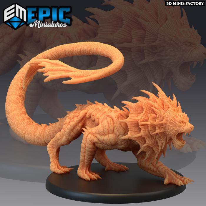 Swamp Cat Sneaking des Dark Swamp créé par Epic Miniatures de 3D Minis Factory