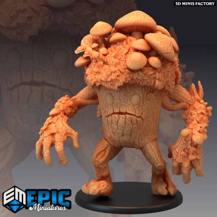 Fungus Infested Treant des Dark Swamp créé par Epic Miniatures de 3D Minis Factory