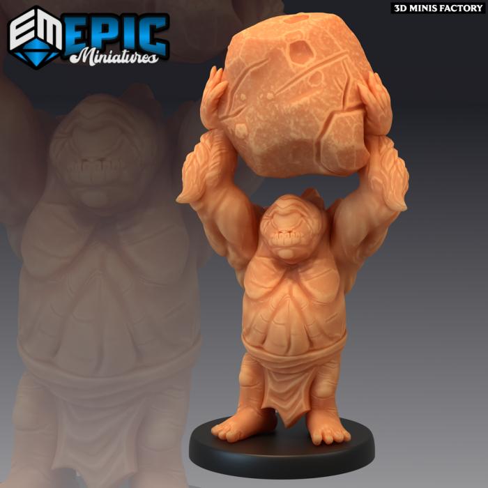 Dwarf Cyclops Rock des Dark Swamp créé par Epic Miniatures de 3D Minis Factory