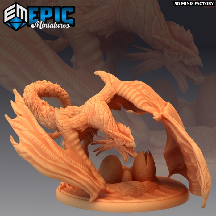 Cockatrice Eggs des Dark Swamp créé par Epic Miniatures de 3D Minis Factory