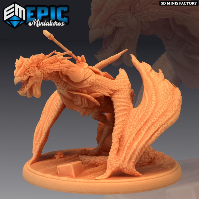 Cockatrice Mount des Dark Swamp créé par Epic Miniatures de 3D Minis Factory