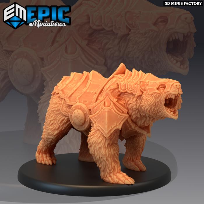 Grizzly Bear Armored des Dark Swamp créé par Epic Miniatures de 3D Minis Factory