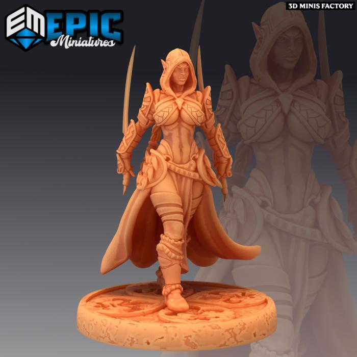 Dark Elf Rogue Sword des Psionic Overlords créé par Epic Miniatures de 3D Minis Factory