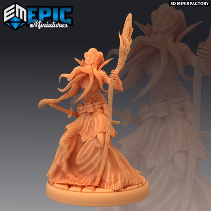 Mind Eater des Psionic Overlords créé par Epic Miniatures de 3D Minis Factory