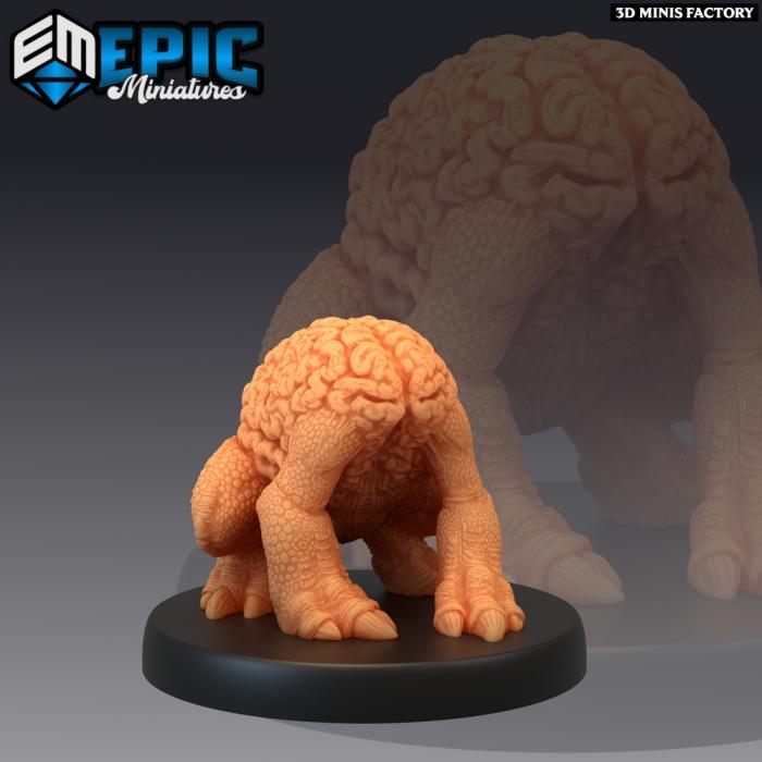 Intellect Crawler Sitting des Psionic Overlords créé par Epic Miniatures de 3D Minis Factory