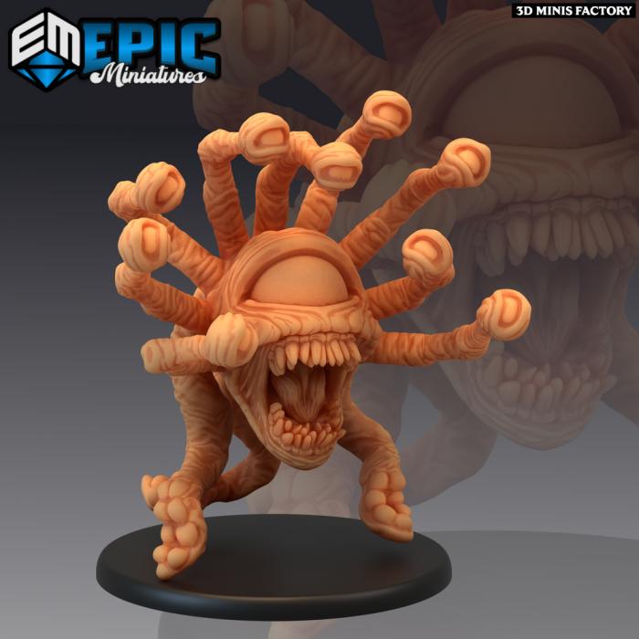 Psionic Tyrant Screaming des Psionic Overlords créé par Epic Miniatures de 3D Minis Factory