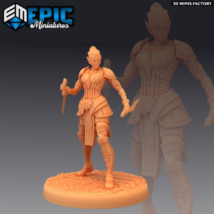 Slave Rebel Dagger des Psionic Overlords créé par Epic Miniatures de 3D Minis Factory
