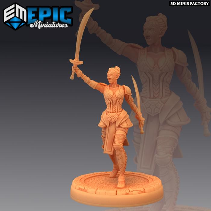 Slave Rebel Sword des Psionic Overlords créé par Epic Miniatures de 3D Minis Factory