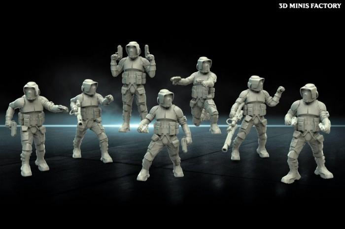 Scout Troopers des Empire créé par Warblade Studio de 3D Minis Factory
