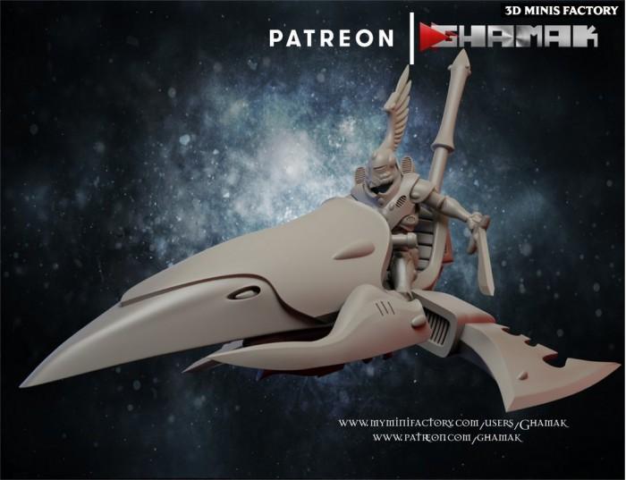 Elda Rider 1 des Eldars créé par Ghamak de 3D Minis Factory