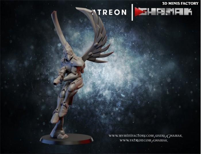 Elda Falcon 2 des Eldars créé par Ghamak de 3D Minis Factory