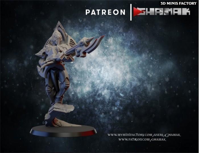 Elda Spectre Female 4 des Eldars créé par Ghamak de 3D Minis Factory