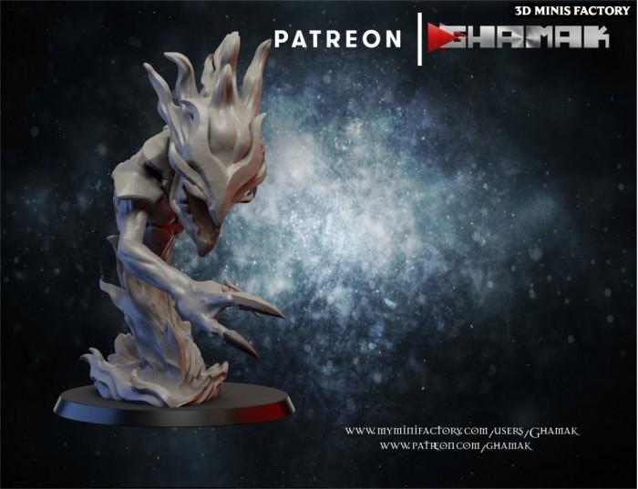 Chaos Pyro Daemon 1 des Daemon créé par Ghamak de 3D Minis Factory