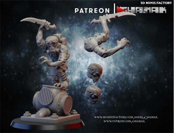 Cult Hybrid Leader des Cult Alien créé par Ghamak de 3D Minis Factory