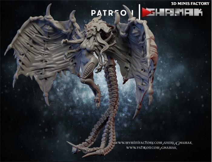 Cult Matriarch des Cult Alien créé par Ghamak de 3D Minis Factory