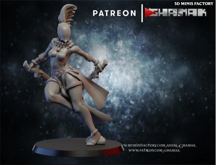 Harlequins 1 des Eldars créé par Ghamak de 3D Minis Factory