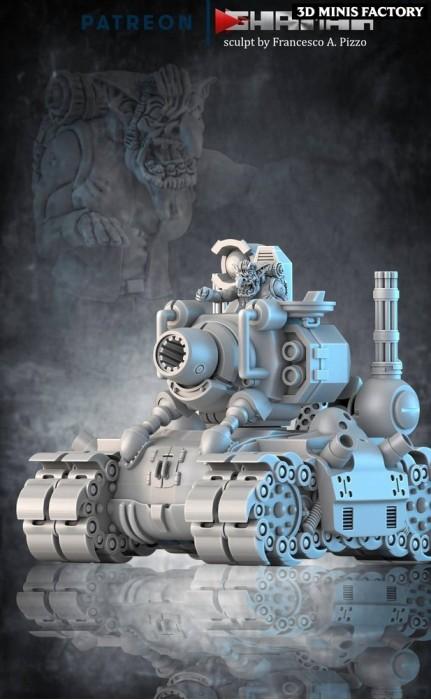 Metal Slug Ork des Ork créé par Ghamak de 3D Minis Factory