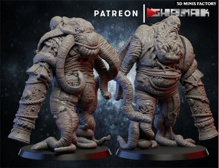 Undead Giant 2 des Undeads créé par Ghamak de 3D Minis Factory
