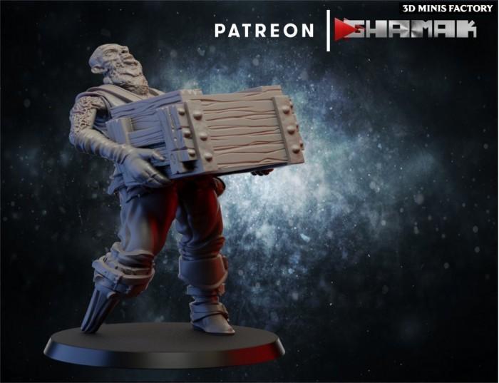 Zombie 2 des Undeads créé par Ghamak de 3D Minis Factory