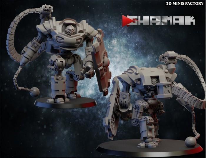 Orlo Bot des Human créé par Ghamak de 3D Minis Factory