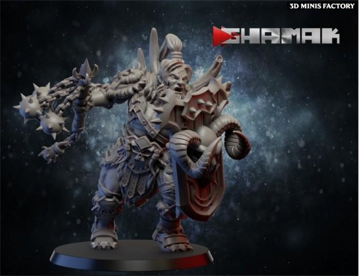 Barbarian Male 3 des Chaos créé par Ghamak de 3D Minis Factory