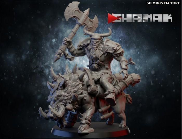 Orc Rider 1 des Orcs & Gobs créé par Ghamak de 3D Minis Factory