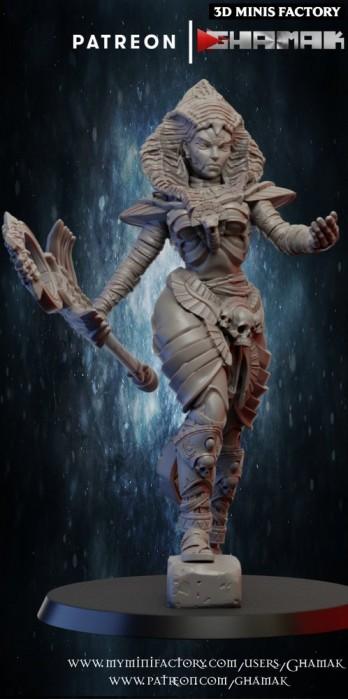 Priestess des Undeads créé par Ghamak de 3D Minis Factory