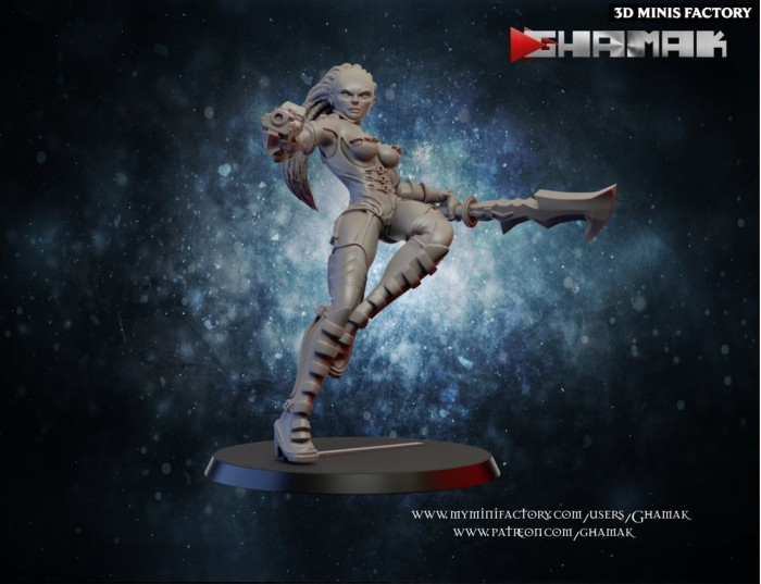 Forgoten Warrior 4 des Human créé par Ghamak de 3D Minis Factory