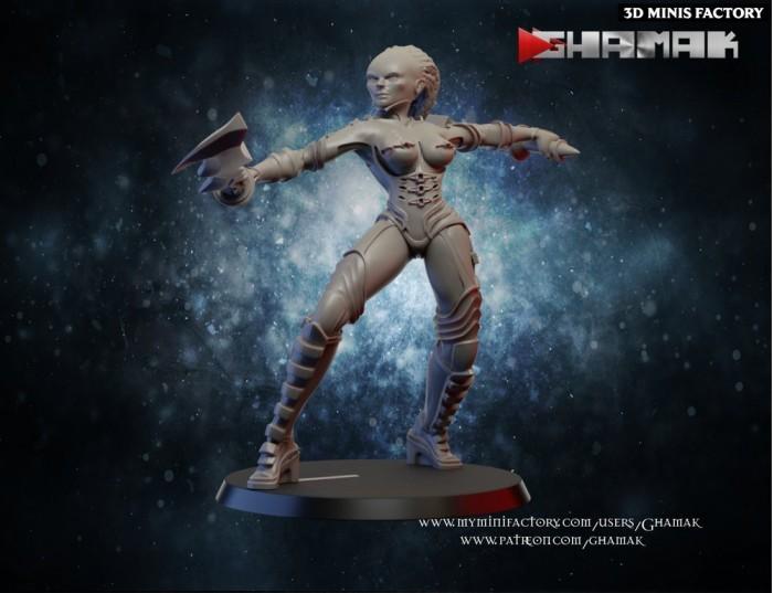 Forgoten Warrior 3 des Human créé par Ghamak de 3D Minis Factory