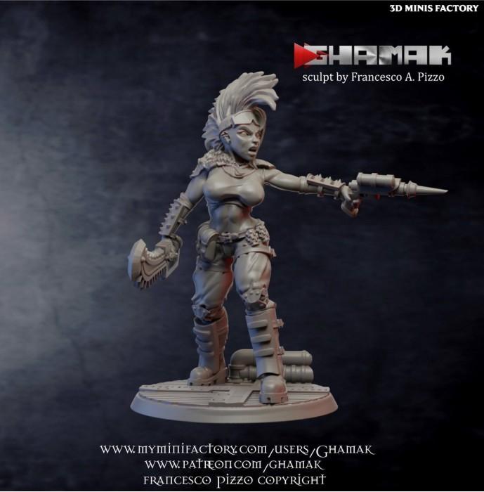 Steampunk Gang Member 1 des Human créé par Ghamak de 3D Minis Factory
