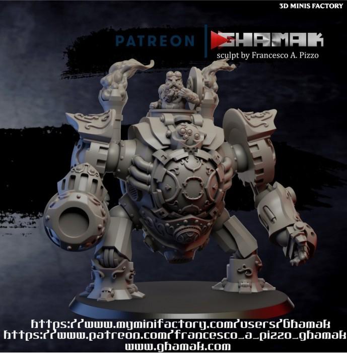 Dwarf Iron Golem des Dwarves créé par Ghamak de 3D Minis Factory
