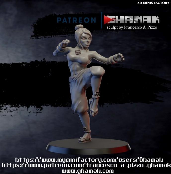 Female Monk 2 des Humans créé par Ghamak de 3D Minis Factory
