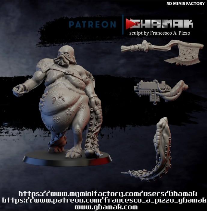 Blight Abomination des Daemon créé par Ghamak de 3D Minis Factory