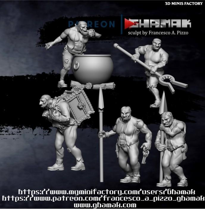 Dumb Brothers des Forest Folks créé par Ghamak de 3D Minis Factory