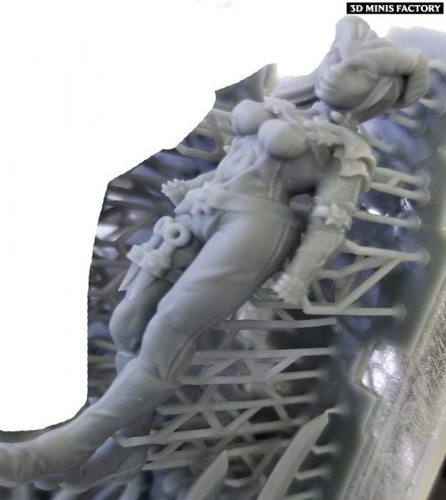 Female Rogue Tiefling des Daemon créé par Ghamak de 3D Minis Factory