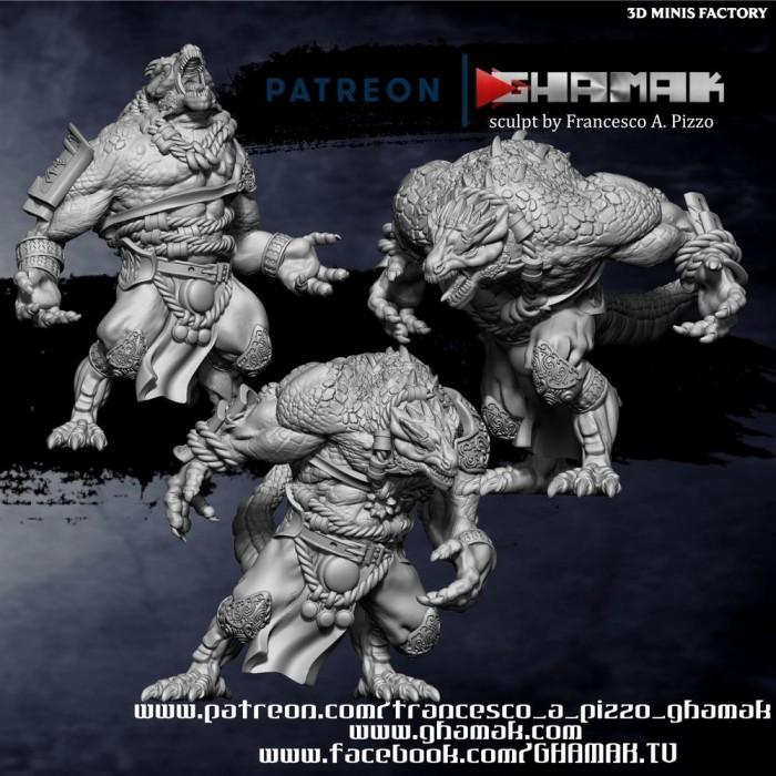 Greater Dragonborn Team des Lizardmen créé par Ghamak de 3D Minis Factory