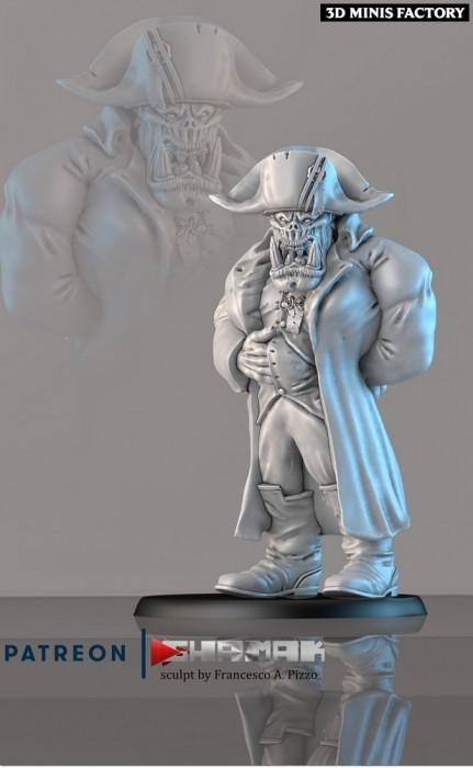 Napoleorc des Orcs & Gobs créé par Ghamak de 3D Minis Factory