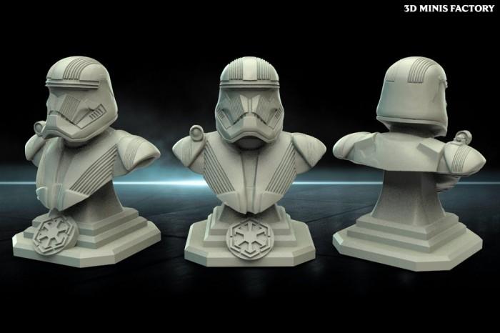 Trooper Bust des Warblades Studio - Figurines de Collection créé par Warblade Studio de 3D Minis Factory