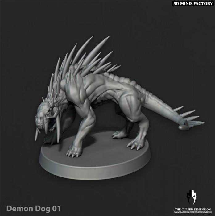 DemonDogs - 6 Variantes des Cursed Elves créé par Edge Miniatures de 3D Minis Factory