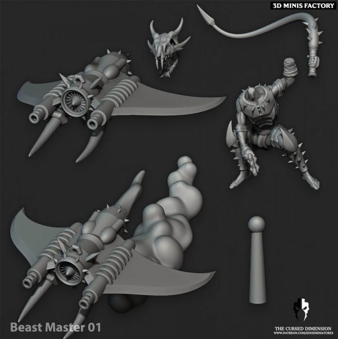 BeastMaster - 3 Variantes prix des Cursed Elves créé par Edge Miniatures de 3D Minis Factory