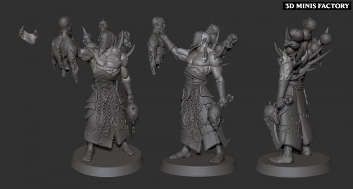 Wracked Warrior Acolyte des Cursed Elves créé par Edge Miniatures de 3D Minis Factory