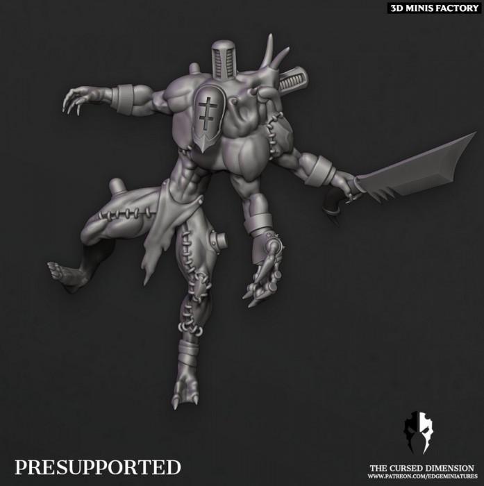 Monstrosity Raider 01 des Cursed Elves créé par Edge Miniatures de 3D Minis Factory
