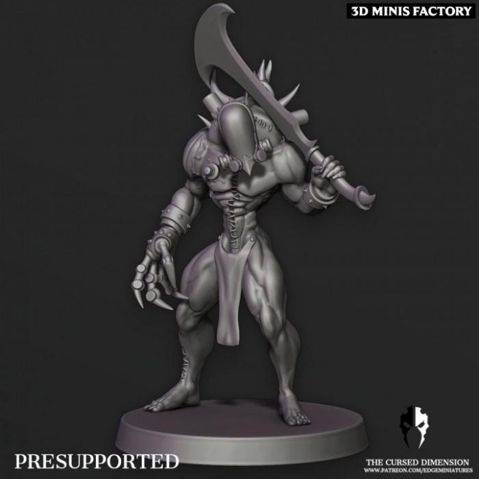 Monstrosity 01 - 2 variantes des Cursed Elves créé par Edge Miniatures de 3D Minis Factory