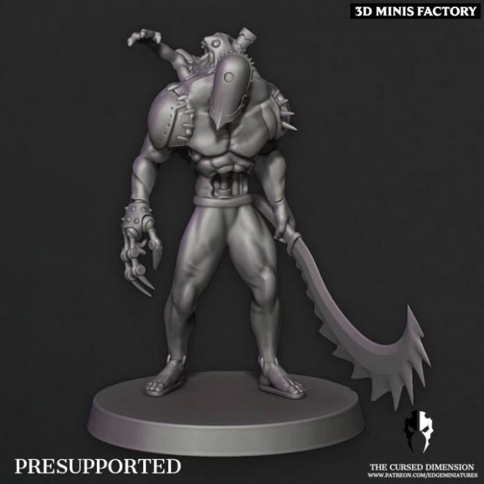 Monstrosity 05 des Cursed Elves créé par Edge Miniatures de 3D Minis Factory