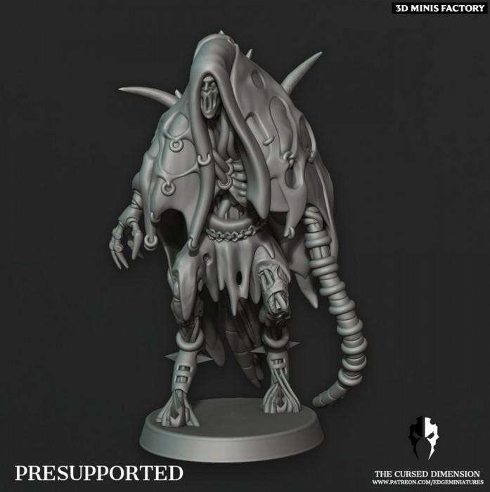Coven Leader - Set 3 des Cursed Elves créé par Edge Miniatures de 3D Minis Factory
