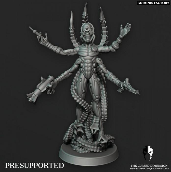 Coven Leader - Set 5 des Cursed Elves créé par Edge Miniatures de 3D Minis Factory