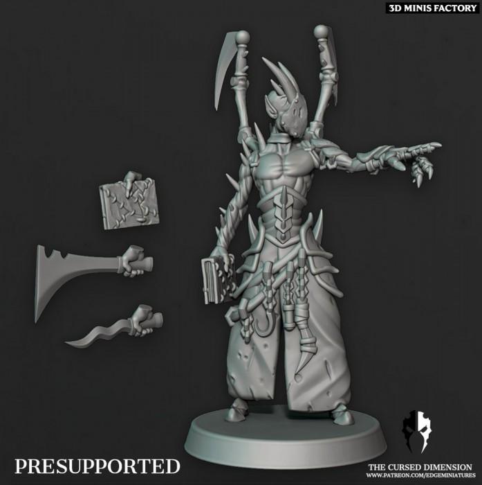 Coven Leader - Set 6 des Cursed Elves créé par Edge Miniatures de 3D Minis Factory