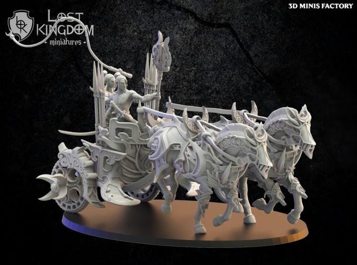 Night Elves Chariot des Night Elves créé par Lost Kingdom Miniatures de 3D Minis Factory