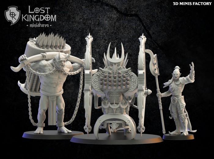Repeater battery des Night Elves créé par Lost Kingdom Miniatures de 3D Minis Factory