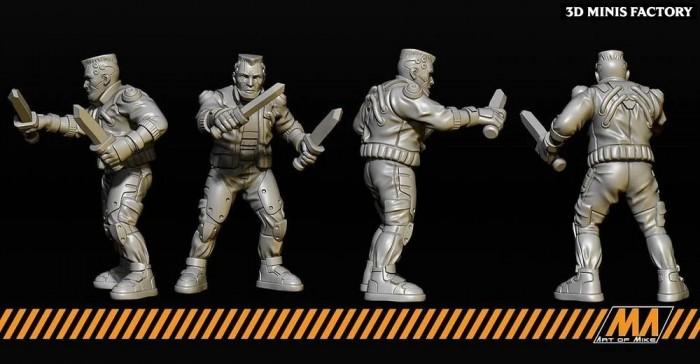 Street Gang - 5 modèles des Cyberpunk créé par Art of Mike de 3D Minis Factory